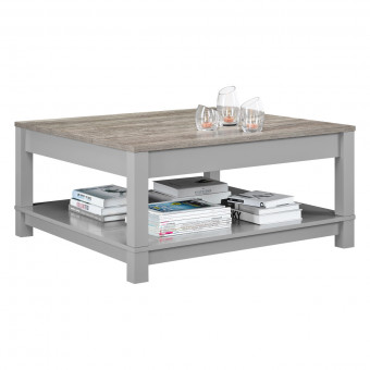 Coffee Table Grey and Oak Carver 5047096COM by Dorel