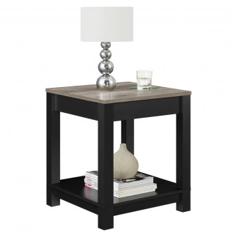 Lamp Table Black and Oak Carver End Table 5046196PCOM by Dorel
