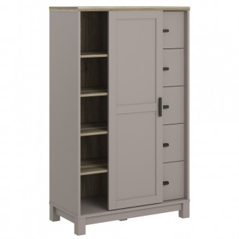 Storage Cabinet Grey and Oak Carver Gentleman's Chest 5991096COMUK by Dorel