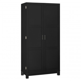 Storage Cabinet Large Black and Oak Carver 5278296PCOMUK by Dorel