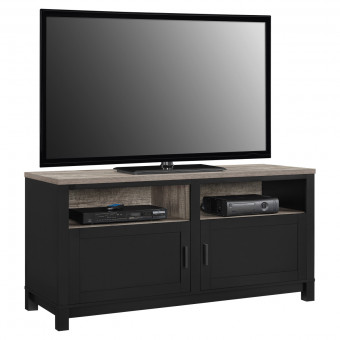 TV Cabinet Black and Oak Carver TV Stand 1753296PCOM by Dorel