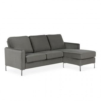Corner Sofa Grey Chapman L Shaped Sofa DA037SECUK by Dorel