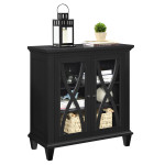 Storage Cabinet Black Ellington Accent Cabinet 5042196COM by Dorel