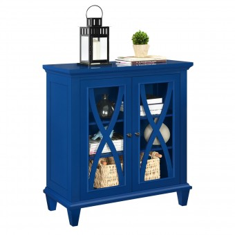Storage Cabinet Blue Ellington Small 2 Door Cupboard 5042396COM by Dorel