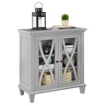 Storage Cabinet Grey Ellington Accent Cabinet 5042296COM by Dorel