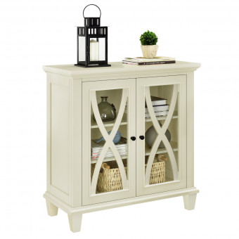 Storage Cabinet Ivory Ellington Small 2 Door Cupboard 5042096COM by Dorel