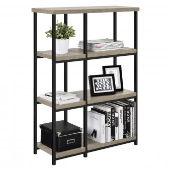 Bookcase Grey Oak Elmwood Small Bookshelves 9650096PCOM by Dorel