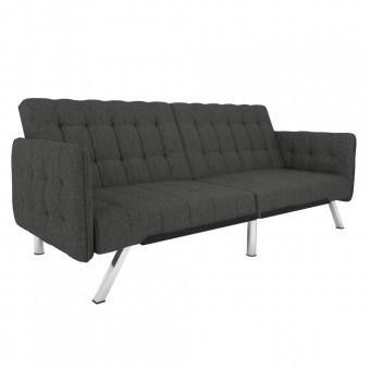 Clic Clac Sofa Bed Grey Emily Fabric Convertible Futon 2175429UK by Dorel
