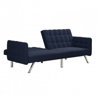 Clic Clac Sofa Bed Navy Emily Fabric Convertible Futon 2175629UK by Dorel