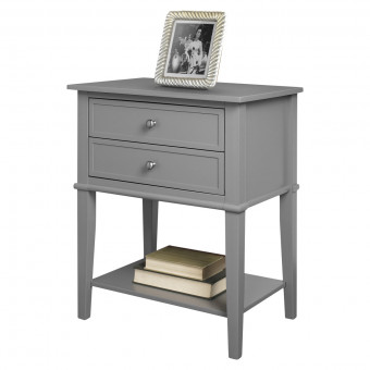 Accent Table Grey Franklin 2 Drawer Lamp Table 5062196PCOMUK by Dorel