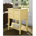 Accent Table Yellow Franklin 2 Drawer Lamp Table 5062496COMUK by Dorel