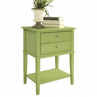 Accent Table Green Franklin 2 Drawer Lamp Table 5062696COMUK by Dorel