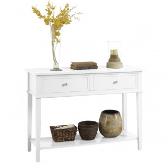Console Table White Franklin Hall Table 7918013COM by Dorel