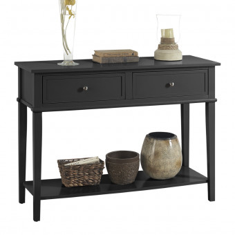 Console Table Black Franklin Hall Table 7918872COM by Dorel