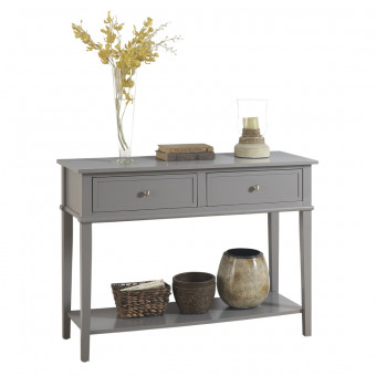 Console Table Grey Franklin Hall Table 7918815COM by Dorel