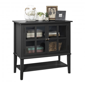 Storage Cabinet Black Franklin Console Table 7915872COM by Dorel