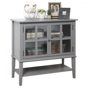 Storage Cabinet Grey Franklin Console Table 7915815COM by Dorel