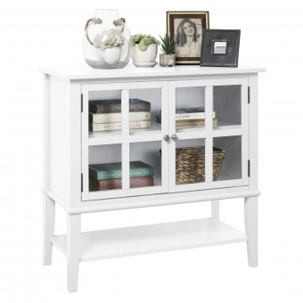 Storage Cabinet White Franklin Console Table 7915013COM by Dorel