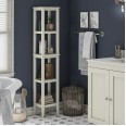 Tower Storage Rack White Franklin Tall Open Storage Unit 7556013COMUK by Dorel