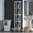 Tower Storage Rack Grey Franklin Tall Open Storage Unit 7556815COMUK by Dorel