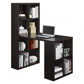 Desks Espresso London Hobby Storage Desk 9358196UK by Dorel