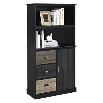 Bookcase Black Mercer Storage Unit 9634196PCOM by Dorel