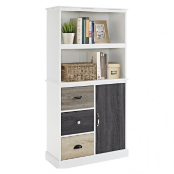 Bookcase White Mercer Storage Unit 9634096 by Dorel