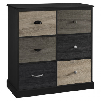 Storage Cabinet Black Mercer 6 Door Storage Unit 5072196PCOM by Dorel