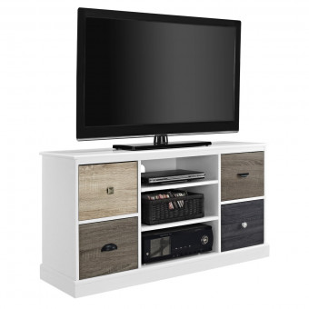 TV Cabinet White Mercer 4 Door TV Stand 1739096 by Dorel