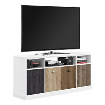 TV Cabinet White Mercer 4 Door Widescreen TV Stand 1769096PCOM by Dorel
