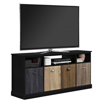 TV Cabinet Black Mercer 4 Door Widescreen TV Stand 1769196PCOM by Dorel