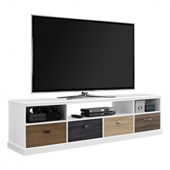 TV Cabinet White Mercer 4 Drawer Widescreen TV Stand 1773096PCOM by Dorel