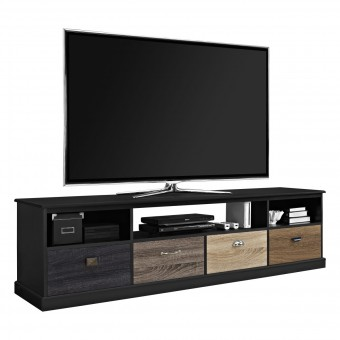 TV Cabinet Black Mercer 4 Drawer Widescreen TV Stand 1773196PCOM by Dorel