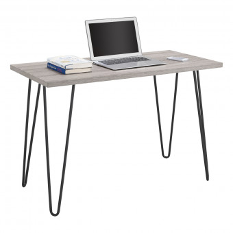 Home Office Desk Grey Oak Owen Retro Study Table 9851296PCOMUK by Dorel
