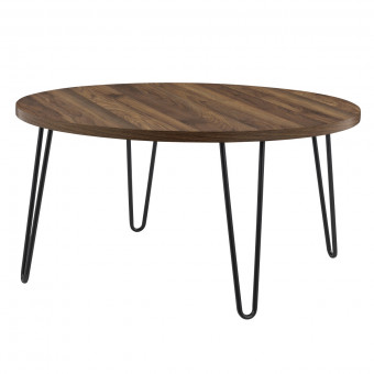 Round Coffee Table Walnut Owen Retro Table 3615222COMUK by Dorel