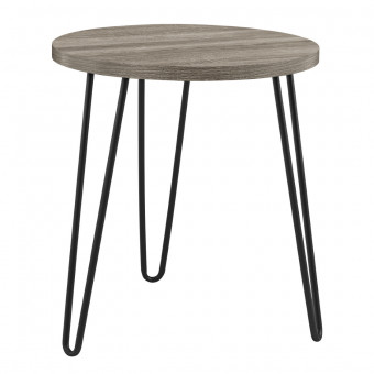 Lamp Table Grey Oak Owen Retro Round End Table 3613307COM by Dorel