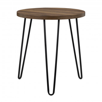 Lamp Table Walnut Owen Retro Round End Table 3613222COM by Dorel