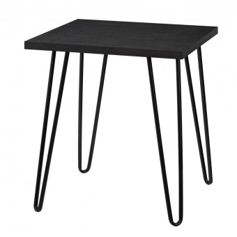 Lamp Table Black Oak Owen Retro Square End Table 5068296COM by Dorel