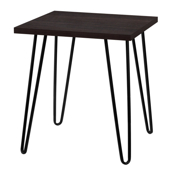 Lamp Table Espresso Owen Retro Square End Table 5012303COMUK by Dorel