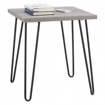 Lamp Table Grey Oak Owen Retro Square End Table 5068196PCOM by Dorel