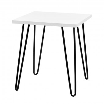 Lamp Table White Owen Retro Square End Table 5012015COM by Dorel