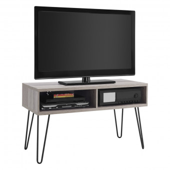 TV Stand Grey Oak Owen Retro TV Unit 1748096PCOMUK by Dorel