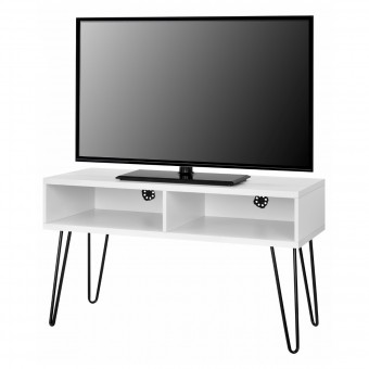 TV Stand White Owen Retro TV Unit 1837015COMUK by Dorel