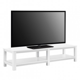 TV Cabinet White Parsons Widescreen TV Stand 1804096WCOM by Dorel