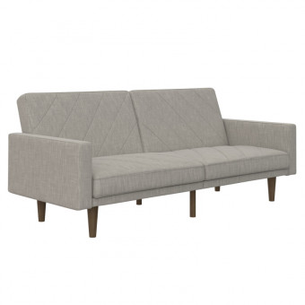 Double Sofa Bed Light Grey Paxson Two Seater Sofa Bed 2110229UK by Dorel