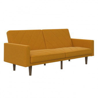 Double Sofa Bed Mustard Paxson Two Seater Sofa Bed 2110329UK by Dorel