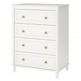 4 Drawer Chest of Drawers Cream Piper Kids Bedroom Dresser 6855196BRUUK by Dorel