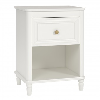 Bedside Cabinet Cream Piper Kids Bedroom Night Stand 6856196BRUUK by Dorel