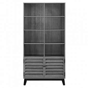 Bookcase Grey Oak Vaughn Storage Cabinet 9549196COM by Dorel