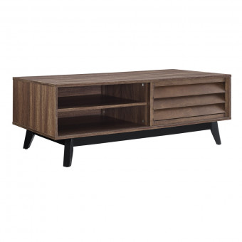 Coffee Table Walnut Vaughn with Storage Space 5028096COM by Dorel
